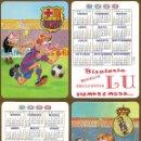 Coleccionismo Calendarios: 2 CALENDARIOS DE BOLSILLO FUTBOL BARCELONA Y MADRID AÑO 2000. Lote 155854870
