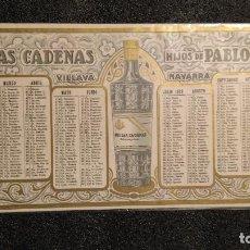 Coleccionismo Calendarios: AÑO 1928!!! CALENDARIO DE ANÍS LAS CADENAS.. Lote 155873162