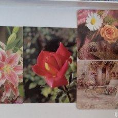 Coleccionismo Calendarios: CALENDARIOS BOLSILLO FLORES. Lote 155944108