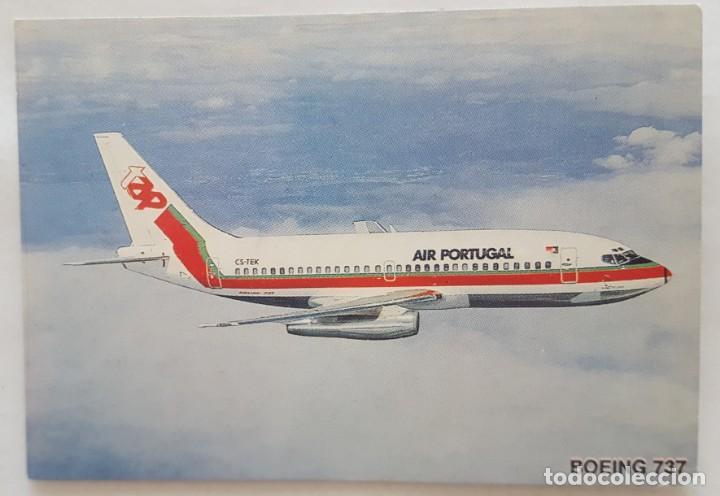 CALENDARIO DE BOLSILLO 1994 AVION BOEING 737 COLECCION 3 DE 12 (PORTUGAL) (Coleccionismo - Calendarios)