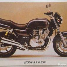 Coleccionismo Calendarios: CALENDARIO DE BOLSILLO 1994 HONDA CB 750 (PORTUGAL). Lote 156010438