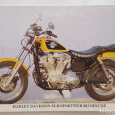 Coleccionismo Calendarios: CALENDARIO DE BOLSILLO 1994 HARLEY DAVIDSON XLH SPORTSTER 883 DELUXE (PORTUGAL). Lote 156010478