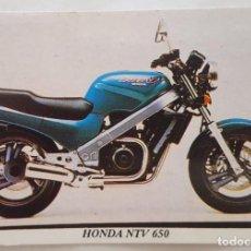 Coleccionismo Calendarios: CALENDARIO DE BOLSILLO 1994 HONDA NTV 650 ( PORTUGAL). Lote 156010526