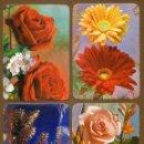 Coleccionismo Calendarios: 4 CALENDARIOS BOLSILLO - FLORES ROSAS 1980. Lote 156323582