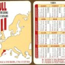 Coleccionismo Calendarios: CALENDARIOS BOLSILLO - FEDERACIO D'ENTITATS CULTURALS DELS PAÏSOS CATALANS 1991. Lote 156330086