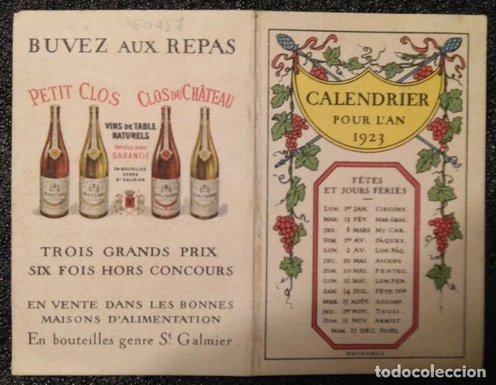 Calendario Repas.Ano 1923 Calendario Vinos Clos