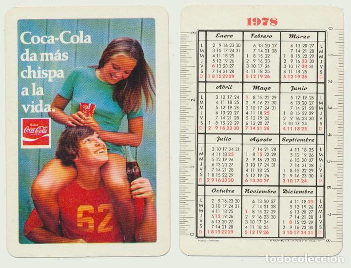 Calendario Enero 1978.Calendario Fournier Coca Cola 1978
