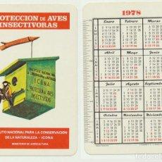 Coleccionismo Calendarios: CALENDARIO FOURNIER. ICONA PROTECCIÓN DE AVES INSECTÍVORAS 1978. Lote 156843500