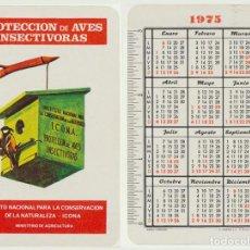 Coleccionismo Calendarios: CALENDARIO FOURNIER. ICONA. PROTECCIÓN DE AVES INSECTÍVORAS 1975. Lote 156843822