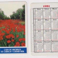 Coleccionismo Calendarios: CALENDARIO FOURNIER. CAJA DE AHORROS DE CUENCA Y CIUDAD REAL 1991. Lote 156848908