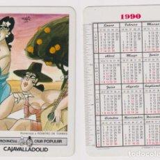 Coleccionismo Calendarios: CALENDARIO FOURNIER. CAJA PROVINCIAL CAJA VALLADOLID 1990. Lote 156848976