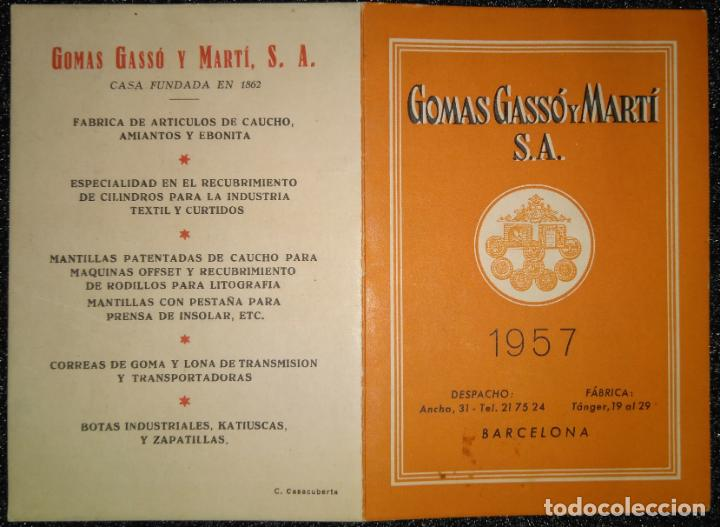 Calendario Del Ano 1957.Ano 1957 Calendario De Gomas Gasso Y Marti