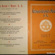 Coleccionismo Calendarios: AÑO 1957. CALENDARIO DE GOMAS GASSÓ Y MARTÍ.. Lote 157775922