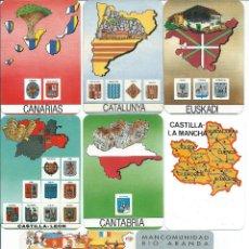 Coleccionismo Calendarios: 15 CALENDARIOS COMUNIDADES DE ESPAÑA Y PREFIJOS TELEFONICOS-AÑOS 1988 AL 1996..-. Lote 158161366