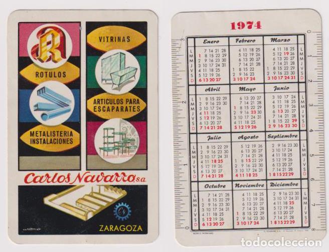 CALENDARIO FOURIER. CARLOS NAVARRO 1974 (Coleccionismo - Calendarios)