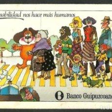Coleccionismo Calendarios: CALENDARIO. FOURNIER, HERACLIO. BANCO GUIPUZCOANO. AÑO 1980.. Lote 158638054