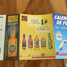 Coleccionismo Calendarios: CALENDARIO FÚTBOL CERVEZA ESTRELLA GALICIA TEMPORADA 99/2000. Lote 159499218