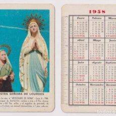 Coleccionismo Calendarios: CALENDARIO FOURNIER. NUESTRA SEÑORA DE LOURDES 1958. Lote 159524200