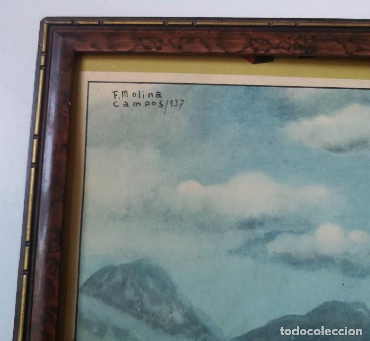 Coleccionismo Calendarios: CALENDARIO ALMANAQUE ALPARGATAS - FLORENCIO MOLINA CAMPOS 1937 - PA'L LAO DE POCHO - 1945 - GAUCHOS - Foto 3 - 159678430