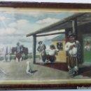 Coleccionismo Calendarios: CALENDARIO ALMANAQUE ALPARGATAS - FLORENCIO MOLINA CAMPOS 1937 - HACIENDO TIEMPO - 1945 - GAUCHOS. Lote 159678946