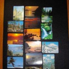 Coleccionismo Calendarios: LOTE DE 15 CALENDARIOS PAISAJES. Lote 160030238