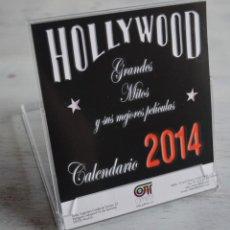Coleccionismo Calendarios: CALENDARIO 2014 DE MESA, 12 TARJETAS, HOLLYWOOD GRANDES MITOS Y SUS MEJORES PELÍCULAS DE 14 X 12 CM. Lote 160032022