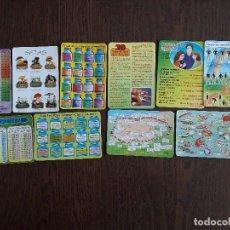 Coleccionismo Calendarios: LOTE DE 10 CALENDARIOS DE SERIE DE CONSEJOS, INFORMACIÓN... AÑOS 90. Lote 160142954