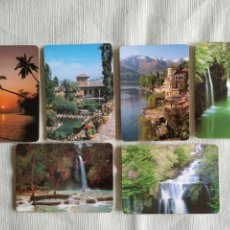Coleccionismo Calendarios: LOTE 6 CALENDARIOS TEMA PAISAJES. Lote 160583780