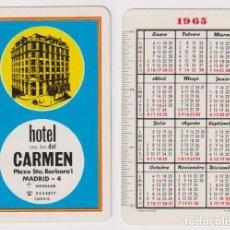 Coleccionismo Calendarios: CALENDARIO FOURNIER. HOTEL DEL CARMEN 1965. Lote 160899901