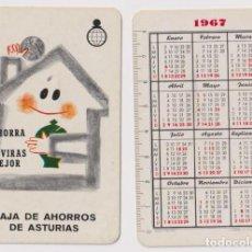 Coleccionismo Calendarios: CALENDARIO FOURNIER. CAJA DE AHORROS E ASTURIAS 1967. Lote 160899965