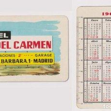 Coleccionismo Calendarios: CALENDARIO FOURNIER. HOTEL NTRA. SRA. DEL CARMEN 1962. Lote 160900065