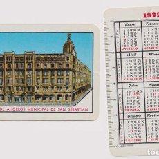 Coleccionismo Calendarios: CALENDARIO FOURNIER. CAJA DE AHORROS MUNICIPAL DE SAN SEBASTIÁN 1972. Lote 160901298