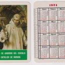 Coleccionismo Calendarios: CALENDARIO FOURNIER. CAJA DE AHORROS DEL CIRCULO CATÓLICO DE BURGOS 1974. Lote 160901594