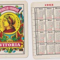 Coleccionismo Calendarios: CALENDARIO FOURNIER. AS DE OROS 1963. Lote 160903884