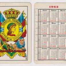 Coleccionismo Calendarios: CALENDARIO FOURNIER. AS DE OROS 1963. Lote 160903904