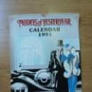 Coleccionismo Calendarios: CALENDARIO FORMATO GRANDE MATCHBOX. 1991 MODELS OF YESTERDAY (42 X 30 CM). Lote 160948926