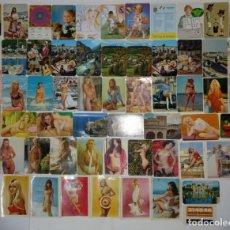 Coleccionismo Calendarios: LOTE 60 CALENDARIOS BOLSILLO AÑOS 60, 70, 80, Y 90 DE PUNTA UMBRÍA 13 MÉRIDA 33 CALAMONTE 4 Y HUELVA. Lote 161175286