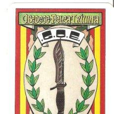 Coleccionismo Calendarios: CALENDARIO DE BOLSILLO MILITAR. GOE. GRUPO OPERACIONES ESPECIALES. 1987.. Lote 161270898