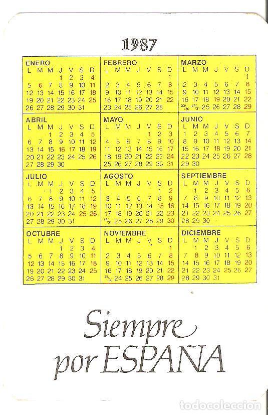 Coleccionismo Calendarios: Calendario de bolsillo militar. GOE. Grupo Operaciones Especiales. 1987. - Foto 2 - 161270898