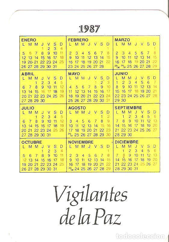 Coleccionismo Calendarios: Calendario de bolsillo militar. Armada Española. 1987. - Foto 2 - 161272110