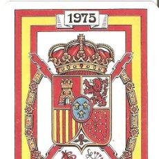 Coleccionismo Calendarios: CALENDARIO DE BOLSILLO MILITAR. ESCUDO REAL. 1987.. Lote 161272662