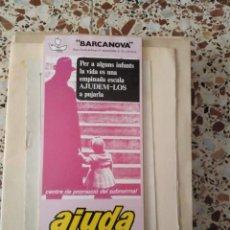 Coleccionismo Calendarios: CALENDARI 1978 (EDICIÓ ESPECIAL D'AJUDA DEL NEN SUBNORMAL). Lote 161522410