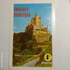 Coleccionismo Calendarios: CALENDARIO FOURNIER. UNIDADES DIDÁCTICAS ÁLVAREZ 1970. Lote 161539558