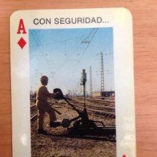 Coleccionismo Calendarios: CALENDARIO FOURNIER - RENFE, CON SEGURIDAD... AÑO 1985. Lote 161553886