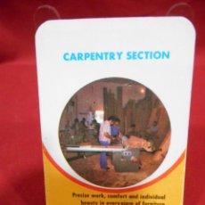 Coleccionismo Calendarios: CALENDARIO DE BOSILLO - CARPENTRY SECTION - AÑO 1977 -. Lote 161627494