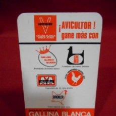 Coleccionismo Calendarios: CALENDARIO DE BOSILLO - GALLINA BLANCA- AÑO 1968 -. Lote 161630078