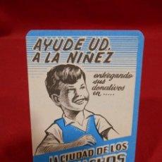 Coleccionismo Calendarios: CALENDARIO DE BOSILLO EN PAPEL - AYUDE USTED A LA NIÑEZ- AÑO 1965 -. Lote 161650578