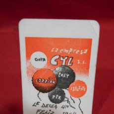 Coleccionismo Calendarios: CALENDARIO DE BOSILLO EN PAPEL - CYL- AÑO 1964 -. Lote 161650726
