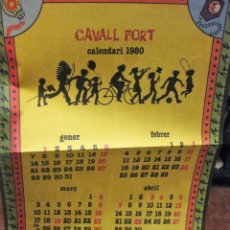 Coleccionismo Calendarios: POSTER CALENDARIO 1980 DE LA REVISTA CAVALL FORT , EN TRASERA - AUCA DEL AÑO 1979. Lote 161723702