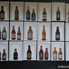 Coleccionismo Calendarios: 18 CALENDARIO BOLSILLO - MARCAS BOTELLAS DE CERVEZA - EXCLUSIVAS TAAL - AÑO 2003. Lote 161997542